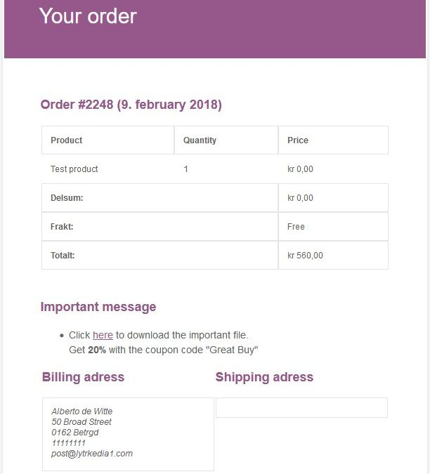 Add a message or notes to order emails (WooCommerce)