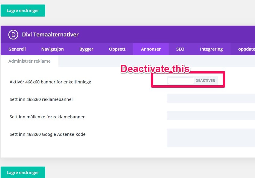 Remove 468 number in DIVI posts